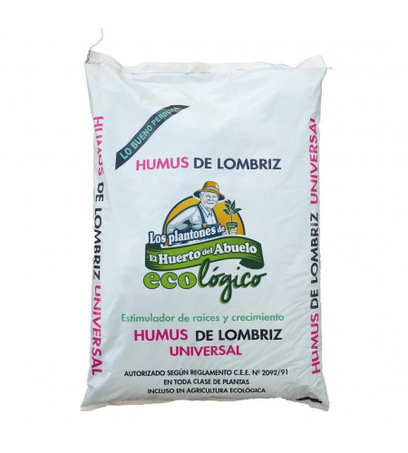 Saco de Humus de Lombriz. 25 kg. ECOLÓGICO