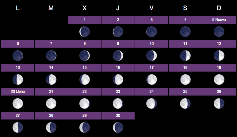 calendario lunar junio 2016 lo natural es mas sano