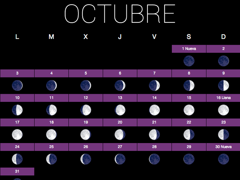 Calendario huerto lo natural es mas sano for Fases lunares del 2016